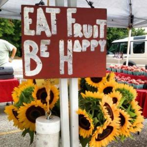 eat fruit be happy